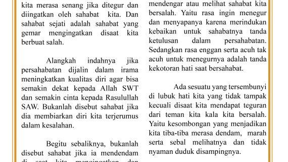 SAHABAT SEJATI – BULETIN RISALAH – BUYA YAHYA