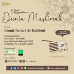 BESOK PAGI, Program Siaran Dunia Muslimah Bersama Ummi Fairuz Ar-Rahbini