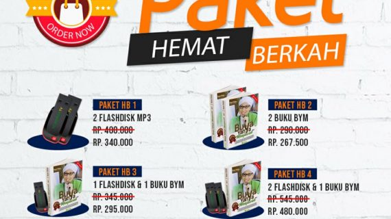 Promo Spesial Paket Hemat Berkah Buku Buya Yahya Menjawab, Flashdisk Buya dll