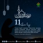11 Hari Menuju Ramadhan